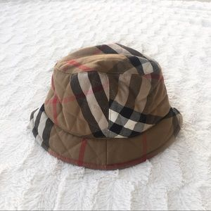 Burberry Nova Check Quilted Bucket Hat